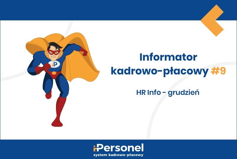 Informator kadrowo-płacowy #9: HR Info – grudzień